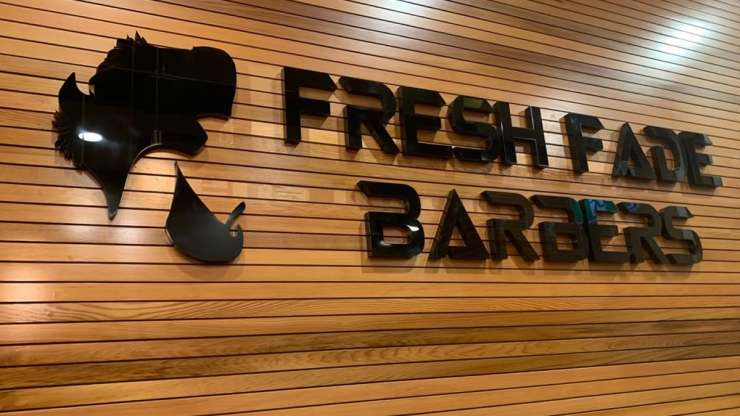 3D Fabricated Letters Barber