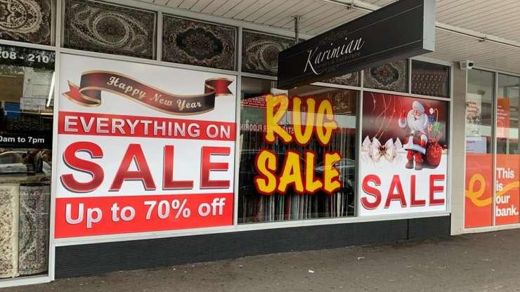 Shopfront Signage – Rugs